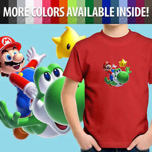 Cute-Yoshi-Luma-Star-Toddler-Gift-Kids-Boy-Tee-Youth-T-Shirt-Super-Mario-Galaxy