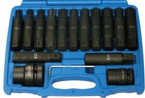 Concentrador-de-herramientas-9676-Impacto-Torx-TX-Estrella-Bit-Hex-Socket-Set-3-4-034-amp-1-034