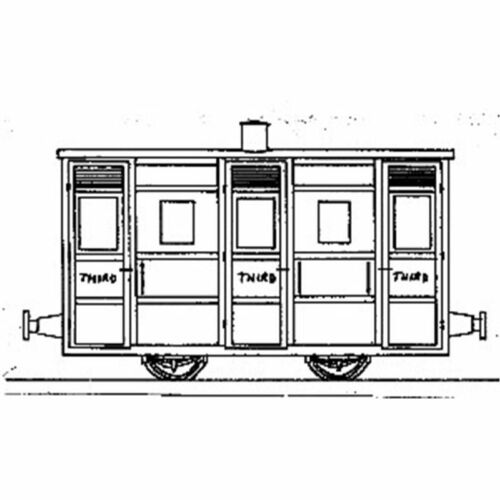 OO9 Festiniog /& Blaenau 4-Wheel 3rd Class Coach Dundas DM43