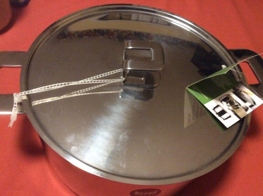 Mepra pot avec couvercle en acier inoxydable 8 L