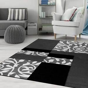 moderno tappeto di design con fiori QUADRETTATO taglio contorni in ...