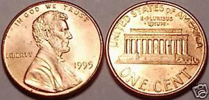 1995-P BRILLIANT UNCIRCULATED LINCOLN CENT