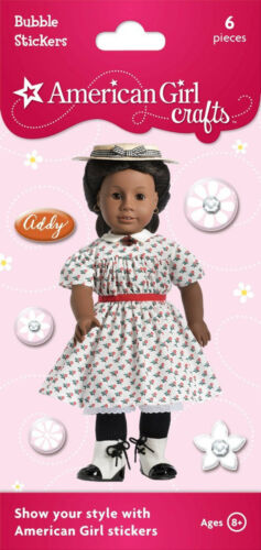 SUMMER DRESS~HAT~CHERRY PIN! AMERICAN GIRL ADDY PUFFY~BUBBLE STICKER