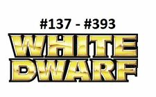 Multi Issue Listing 137 to 393 White Dwarf Magazines Max AU Postage cost $12.95
