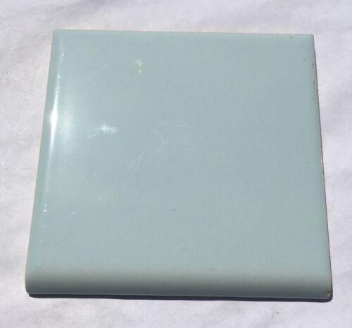 Dresden Blue 4x4 Vintage Ceramic Bullnose Tile /'National Tile/' Surplus 1 Piece