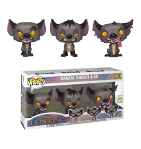 Banzai Shenzi /& Ed the Lion King Funko Pop Pack Of 3