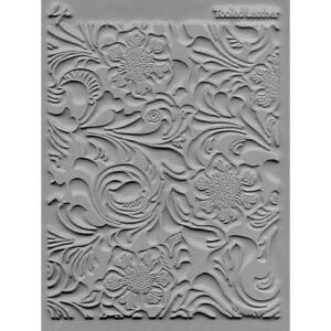 Lisa-Pavelka-Texture-Stamp-Mold-Sheet-Mat-Polymer-Clay-TOOLED-LEATHER-Made-USA
