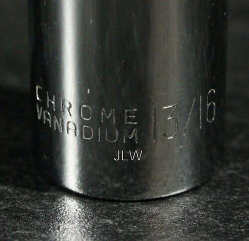 Chrome Deep Swivel Socket CR-V in 3//8 X 13//16/'s NEW