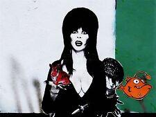 ART PRINT POSTER PHOTO GRAFFITI MURAL STREET ELVIRA TIGER BUNNY NOFL0195