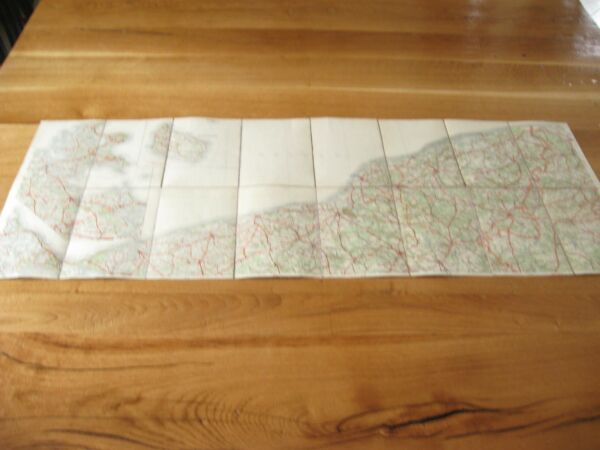 Alte Landkarte Karte Pommern Kolberg Rügenwalde Stolp Lauenburg Neustadt Berent