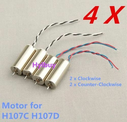 4pcs Motor for Hubsan X4 H107D H107C H107-A23 RC Quadcopter FPV Helicopter parts