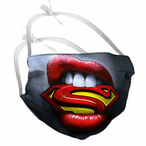 Designer Face Mask Filter Pocket Super Man Eu Made Optional Carbon Filter Ebay