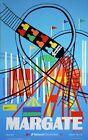 "Vintage Illustrated Travel Poster CANVAS PRINT Margate Theme park 24""X16"""