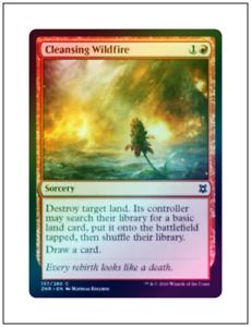 1x Foil Cleansing Wildfire Magic the Gathering MTG Zendikar Rising