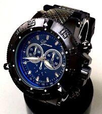Men's Large Watch Geneva MC41534 Black Silicone Band Black Case Water Resistant