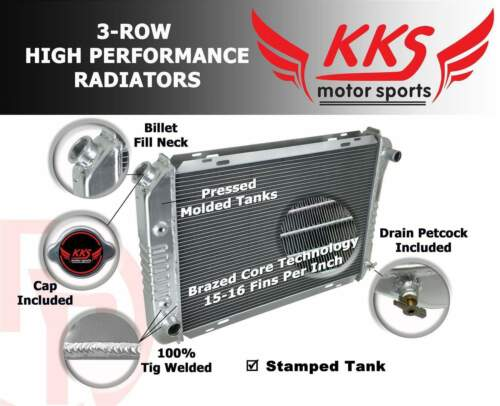 KKS NEW 3 ROW CORE Aluminum Radiator For Ford Galaxie 500XL 1960-1963 1961 1962