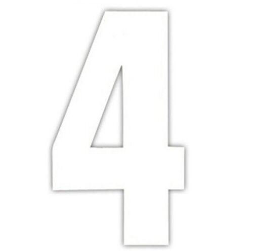 2 Pack WHEELIE BIN HOUSE NUMBERS 2 x WHEELY STICKERS DUSTBIN WHITE SELF ADHESIVE