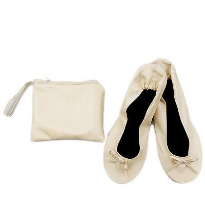 Roll Up Doble Bombas Zapatos sin Taco después de la fiesta de bolsillo plegable Bolsa UK Libre