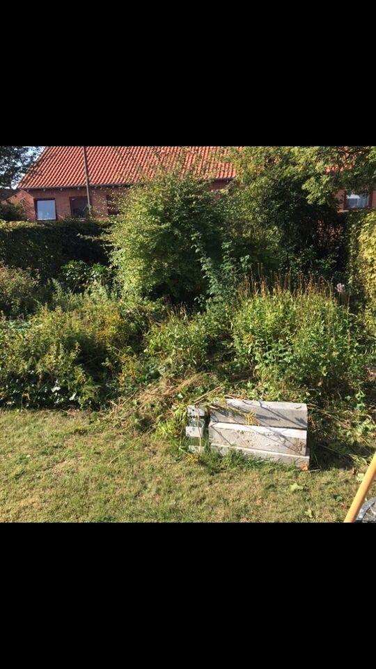 Havearbejde / Transport / Rengøring / Afmontering