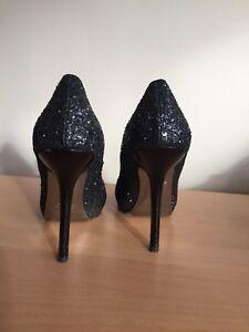 Miu Miu Black Glitter Heels, Size 39