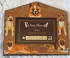 New Akita Picture Hound Maple Lane Press 3x5 4x6 Dog Pet Animal Photo Frame