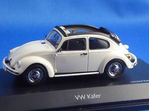 1-43-VW-Beetle-1600-cabriolet-de-SCHUCO-blanc-limitee-1-000-ST