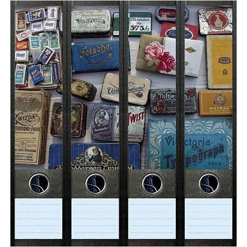 File Art 4 Design Ordner-Etiketten Tin Boxes.................................016