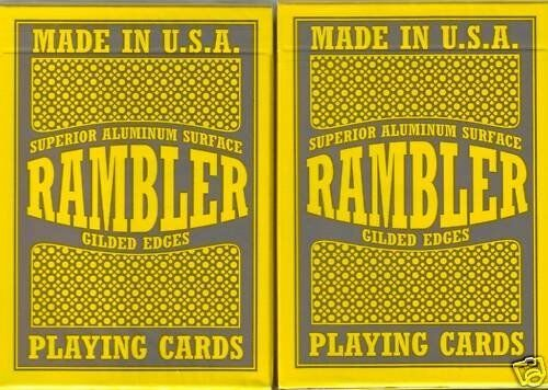 RAMBLER GILDED deck of Playing Cards GOLD put by hand Poker size USPC bicycle