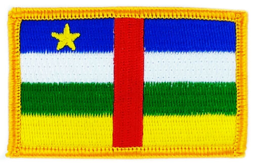 FLAG PATCH PATCHES Central African Republic IRON ON COUNTRY EMBROIDERED WORLD