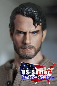 1/6 Henry Cavill Superman Head Sculpt 3.0 Clark Kent Pour Les Jouets Chauds De Phicen