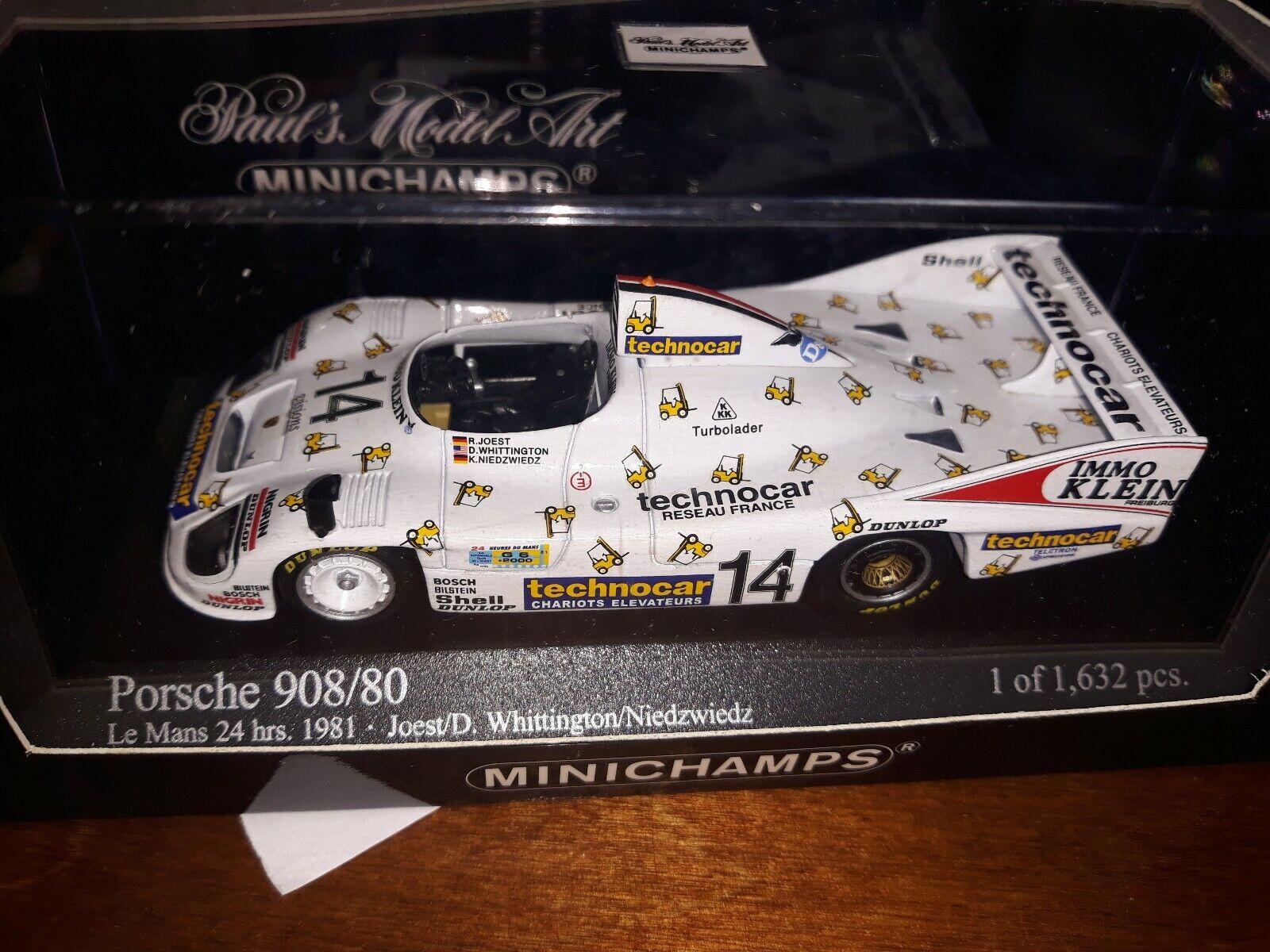 Minichamps 1 43 Porsche 908 80  14 Le Mans 1981