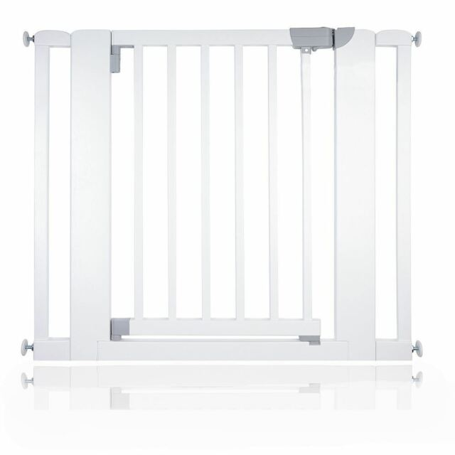 Safetots Chunky Wooden Pressure Fit Stair Gate 89cm 97cm White