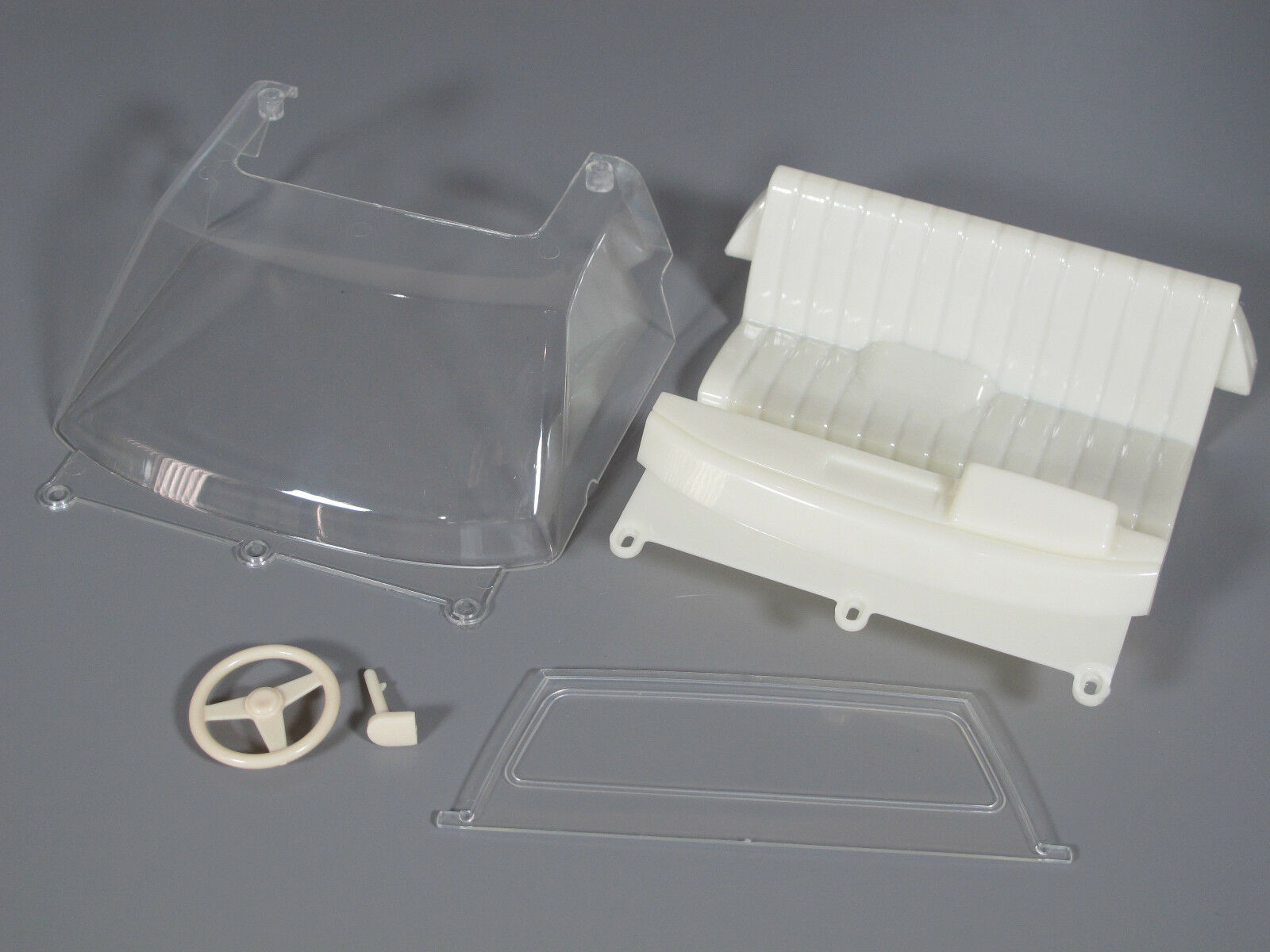 Tamiya 1 10 RC Toyota Toyota Toyota Hilux Bruiser Seat Steering Wheel Clear Window Windshield c01edf