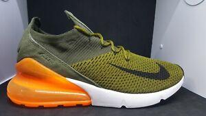 Nike Men's Air Max 270 Flyknit, Olive FlakBlack Cargo Khaki, 10 M US