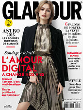 Glamour Magazine French France Paris January 2016 Birgit Kos by Steven Pan NEW