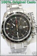 EF-545D-1A Black Men Casio Edifice Alarm Stopwatch 100M Analog Stainless Steel