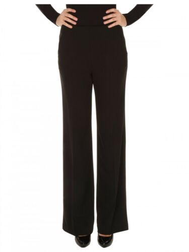 LADIES GENUINE JANE NORMAN WIDE LEG BLACK TROUSERS SIZE 12  NSP £38