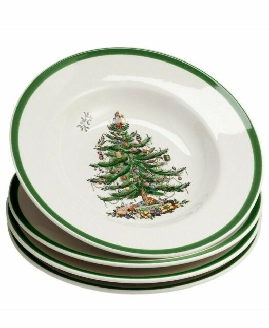 Spode Christmas Tree Sale: Spode Christmas Tree Soup Plate Set Of 4 For Sale Online