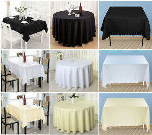 Rond-Rectangle-Nappe-Couverture-De-Fete-De-Mariage-Polyester-vaisselle-table-cloth