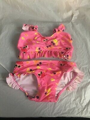 Nannette Baby Girl Swimsuit ~ 2 Tone Pink ~ Ruffles Galore ~ Adorable! ~ NWT