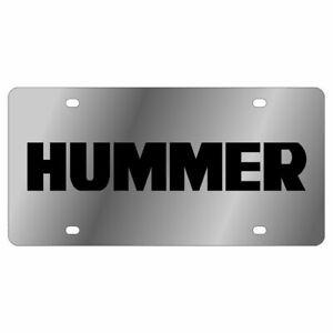 Eurosport Daytona Stainless Steel Black Hummer H3 License Plate Frame 3D Novelty Tag
