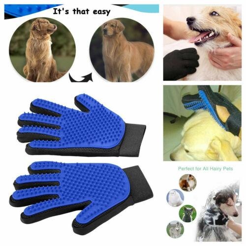 Pet Grooming Glove Hair Brush Dog Cat Fur Removal Gloves Deshedding Massage Pair