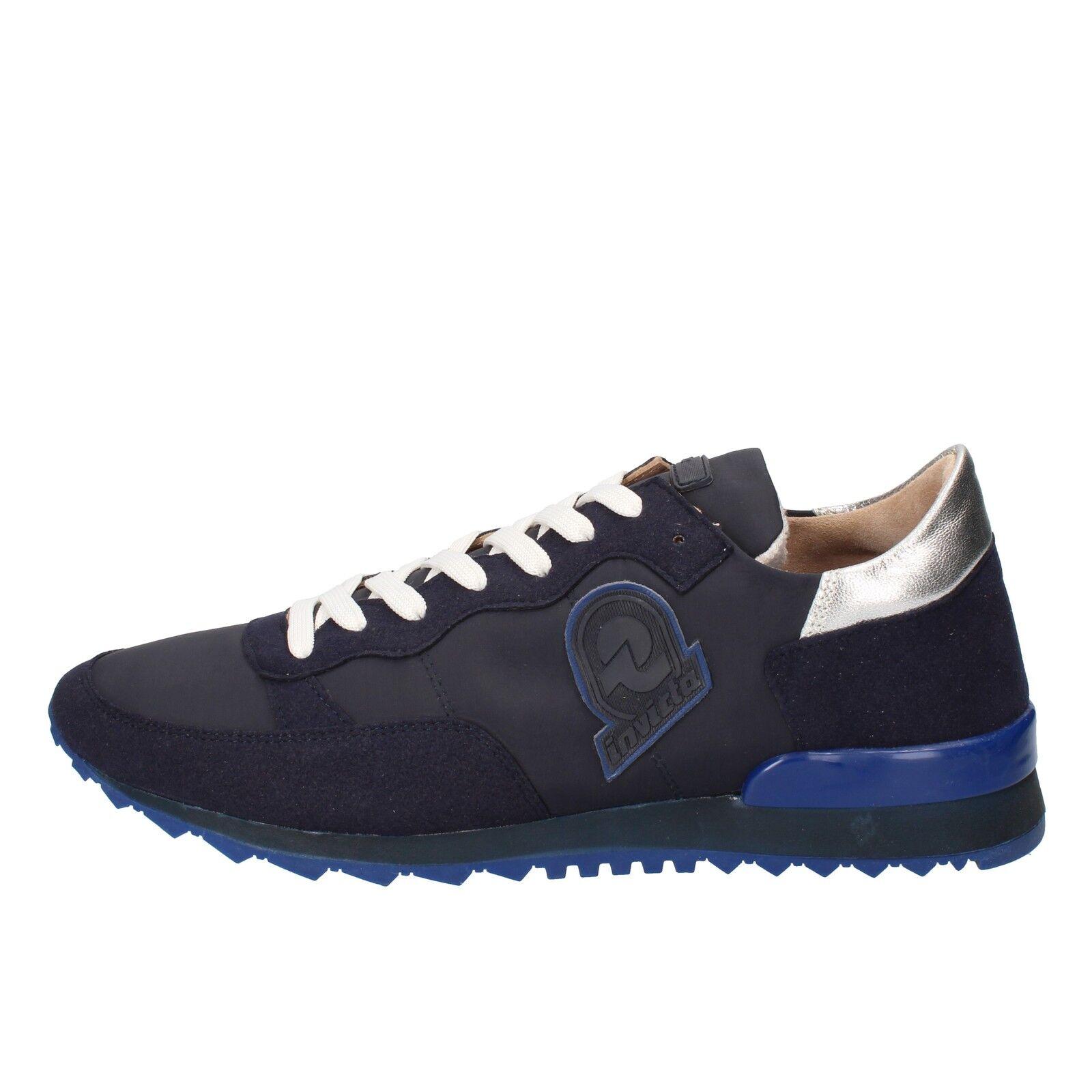 Herren schuhe INVICTA 43 EU sneakers dunkelblau wildleder textil AB66-E