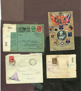 CANADA-WWI-WORLD-WAR-ONE-MILITARY-CENSORED-FPO-ETC-RAM11-23