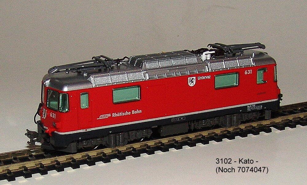 Noch 7074047 (Kato 3102) -e-lok Rhaetian Railway -alpine Locomotive Ge4 4 II