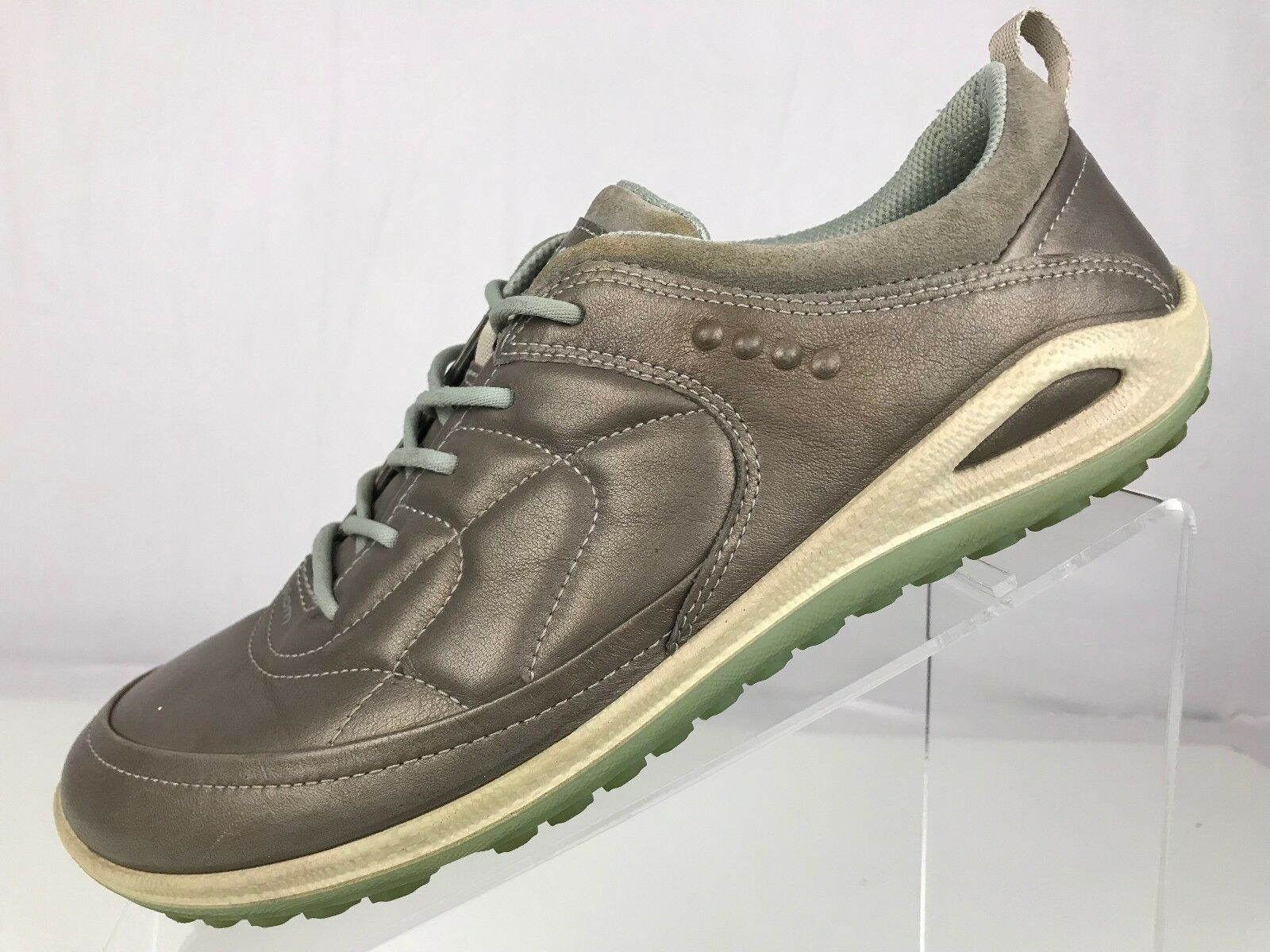 Ecco Biom Sneakers - Casual Walking Leather shoes Silver Women's 37 US 6 6.5
