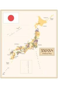 Japan-Vintage-Style-Political-Map-Poster-24x36-inch