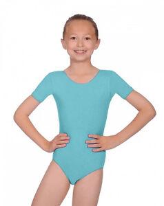 ab41c0baf6d0 GIRLS BALLET LEOTARD Short Sleeved Dance Leotard Ballet Uniform RAD ...