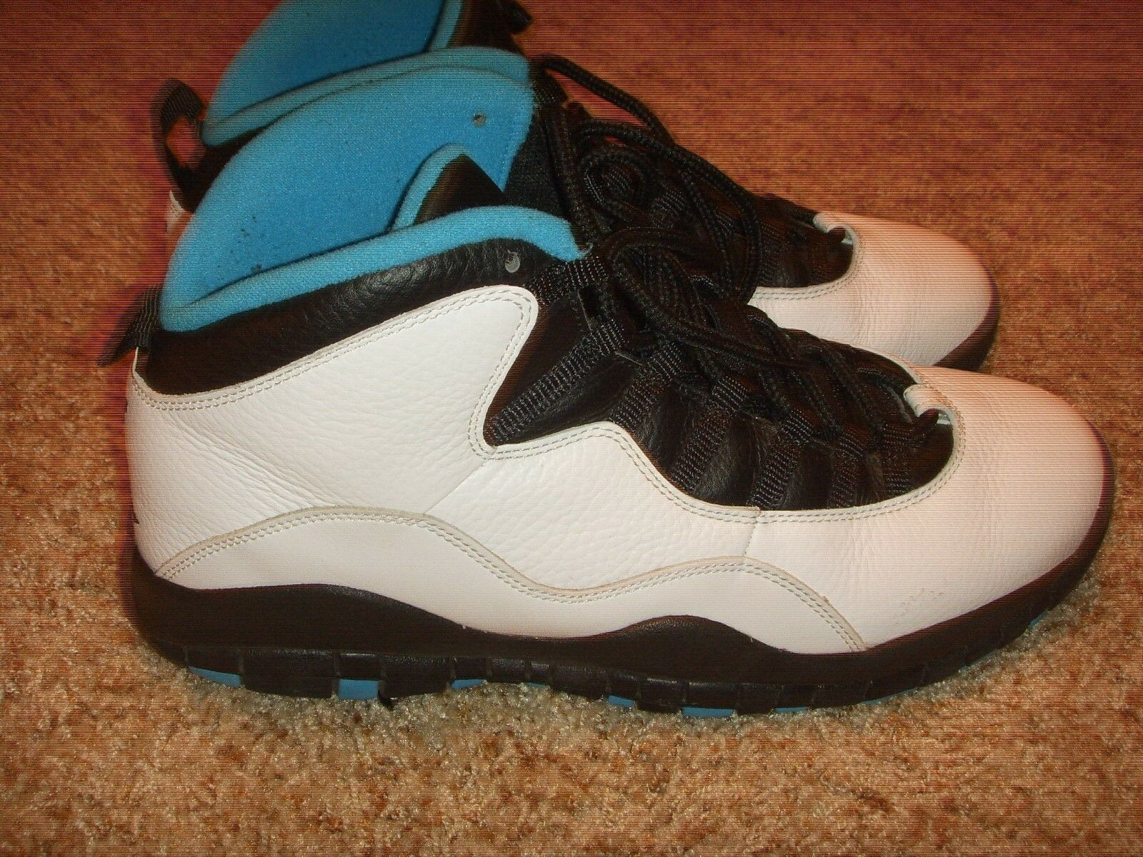 98641d3c20 Nike Air Jordan X 10 Retro WhiteDark Powder bluee-Black 310805-106 Mens Size