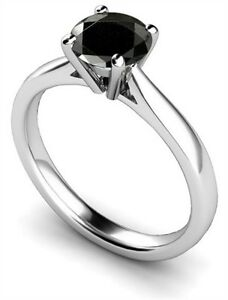 1ct-AAA-Black-Diamond-Solitaire-Engagement-Ring-18ct-Gold-Fully-UK-Hallmarked